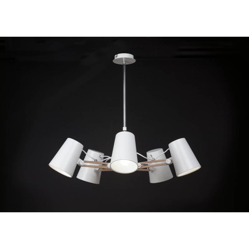 L mpara colgante looker 5 luces blanco mantra - Tipos de lamparas de techo ...