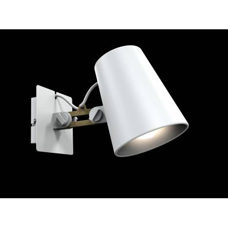 Mantra Looker wall lamp 1L white wood