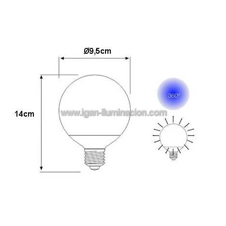 Bombilla LED 6w E27 230v vintage de Maslighting