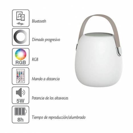 Lámpara + Altavoz Take Me Bluetooth LED - ACB