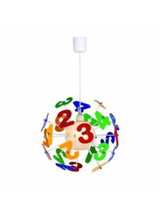 KELEKTRON Numbers 1L E27 pendant lamp
