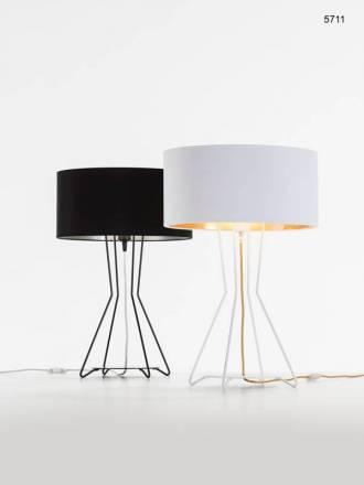 Lámpara de mesa Palo Alto E27 tela - Ilusoria