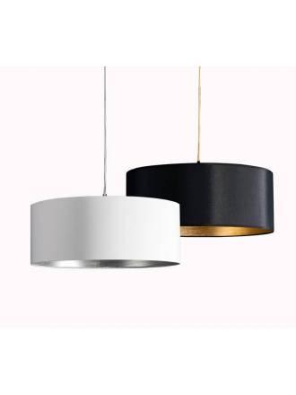 Lámpara colgante Palo Alto E27 tela - Ilusoria
