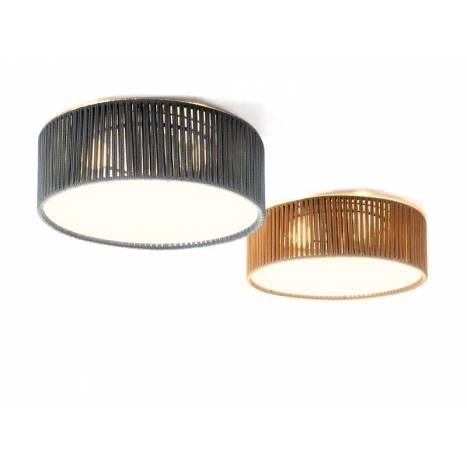 ILUSORIA Corda E27 textil ceiling lamp