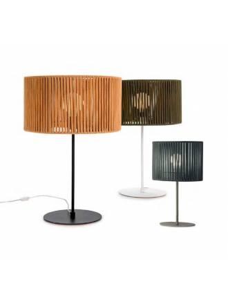 Lámpara de mesa Corda E27 cuerda textil - Ilusoria