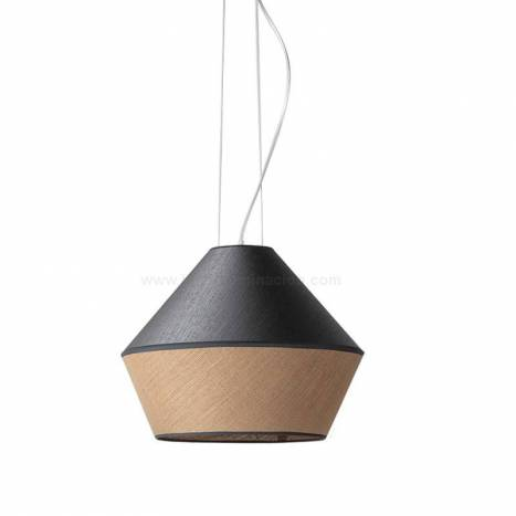 ILUSORIA Tossa E27 textile sack pendant lamp