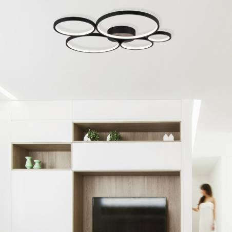 Plafón de techo Rondo LED 49w ambiente - Trio