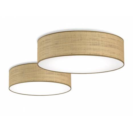 ILUSORIA Rafia Classic E27 fabric ceiling lamp