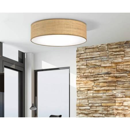 ILUSORIA Rafia Classic E27 fabric ambient ceiling lamp