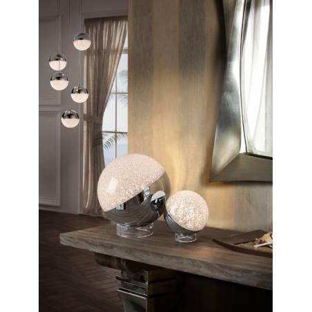 Lámpara de mesa Sphere LED cromo ambiente  Schuller