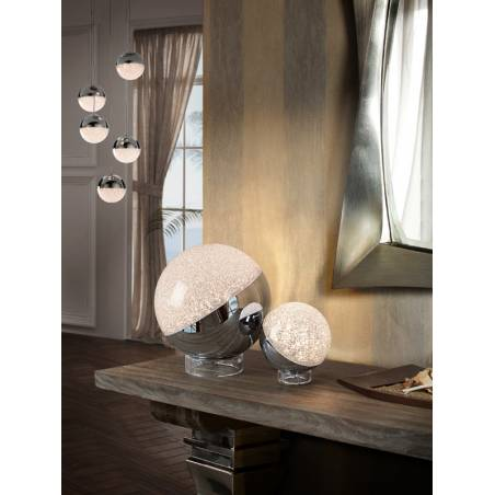 SCHULLER Sphere LED chrome table lamp ambient