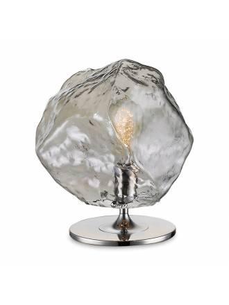 Lámpara de mesa Petra E27 cristal humo Schuller