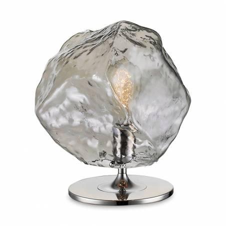 SCHULLER Petra E27 smoke glass table lamp