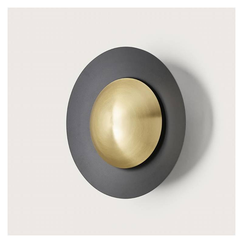 Aplique de pared Coss LED negro - Aromas