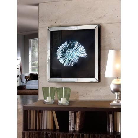 Schuller Fosil mirror frame 60x60 beveled ambient