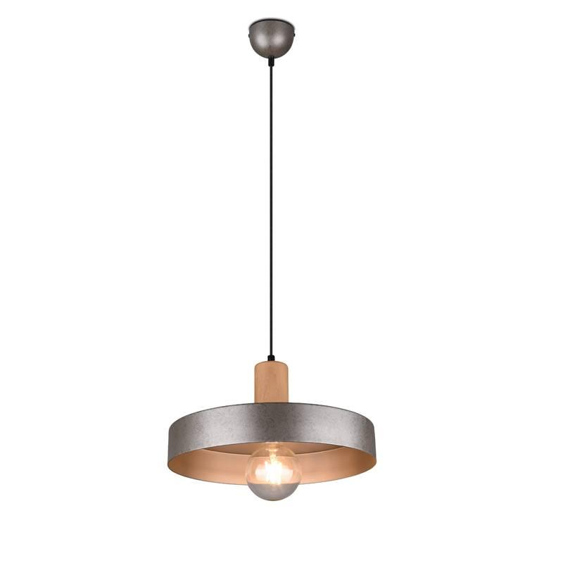 TRIO Gaya E27 wood pendant lamp
