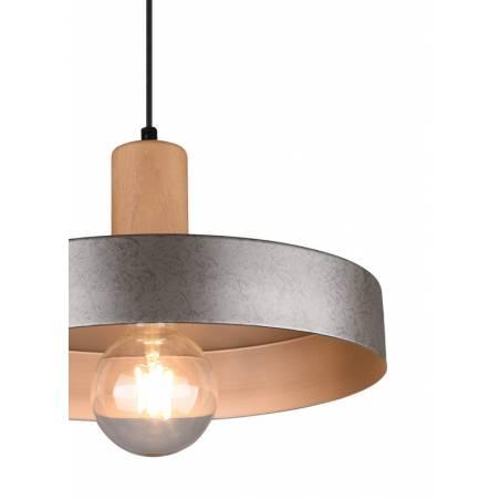 TRIO Gaya E27 wood detail pendant lamp