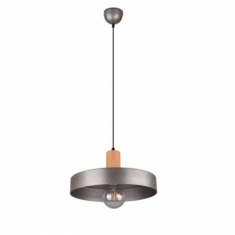 Lámpara colgante Gaya E27 madera - Trio 1