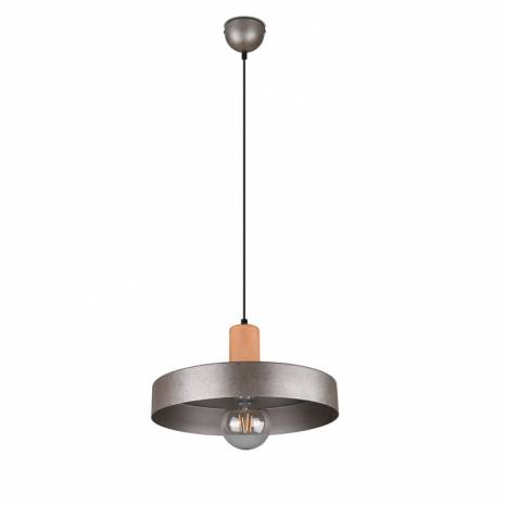 TRIO Gaya E27 wood pendant lamp 1