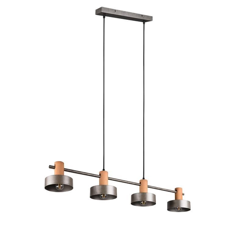 TRIO GAYA 4L E27 wood ceiling lamp