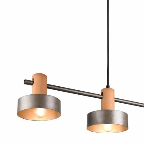 TRIO GAYA 4L E27 wood ceiling lamp detail