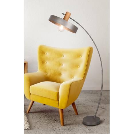 Lámpara de pie Gaya E27 madera ambiente - Trio
