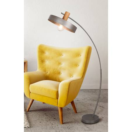 TRIO Gaya E27 wood floor lamp ambient