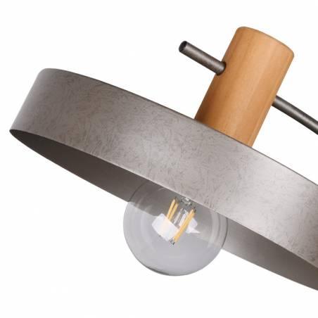 Lámpara de pie Gaya E27 madera detalle - Trio