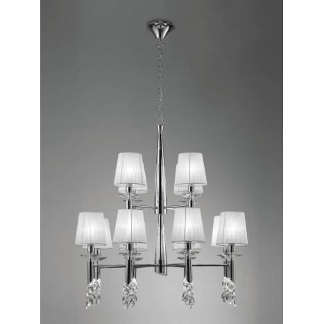 Mantra Tiffany pendant lamp 12L chrome