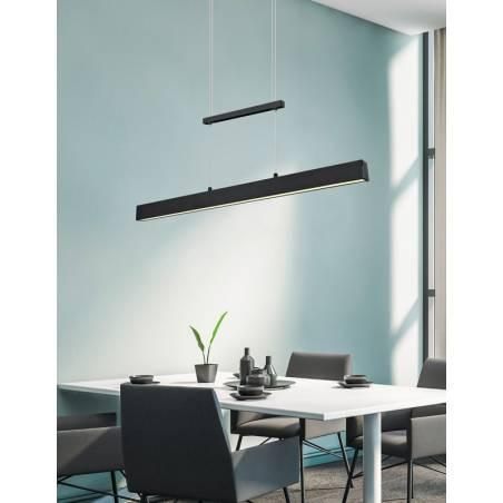 TRIO Paros LED 32w black pendant lamp ambient