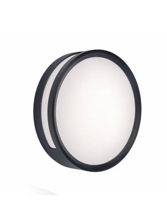 Aplique de pared Rola LED 13w aluminio gris oscuro - Lutec