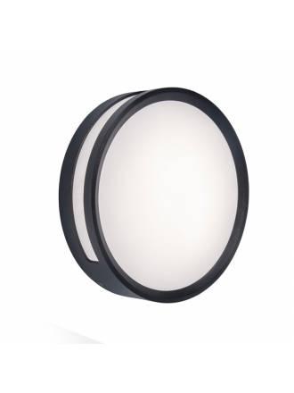 LUTEC Rola LED 13w aluminium dark grey wall lamp