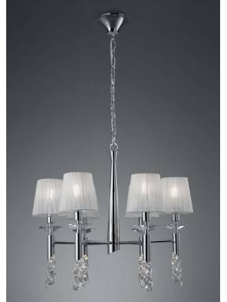 Mantra Tiffany pendant lamp 6L chrome