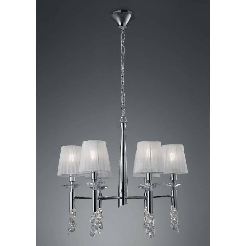 Mantra Tiffany pendant lamp 6L chrome