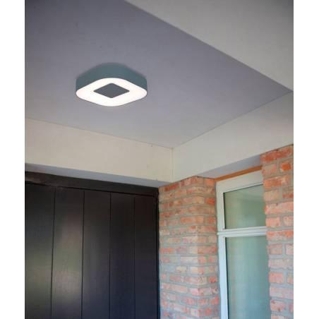 LUTEC Ublo LED 16w IP54 square ceiling lamp ambient