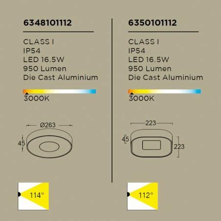 LUTEC Ublo LED 16w IP54 info ceiling lamp