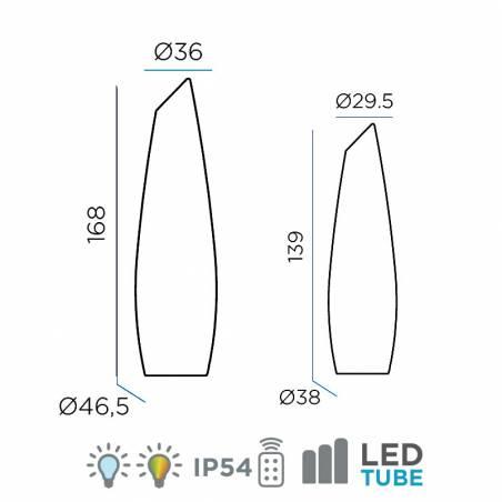 Lámpara de pie Fredo LED RGB IP54 battery info - Newgarden