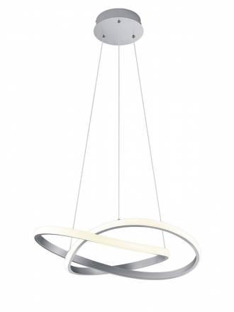 TRIO Course LED 27w silver pendant lamp