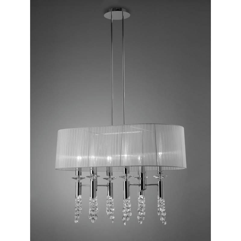 Mantra Tiffany pendant lamp 1L oval chrome