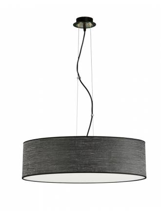 ILUSORIA Wood LED + remote control pendant lamp black