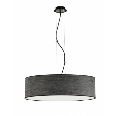 Lámpara colgante Wood LED + mando negro - Ilusoria