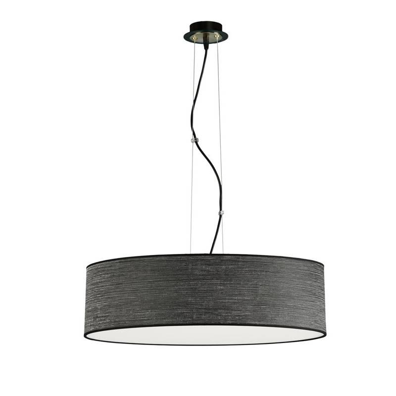 ILUSORIA Wood LED + remote control pendant lamp black