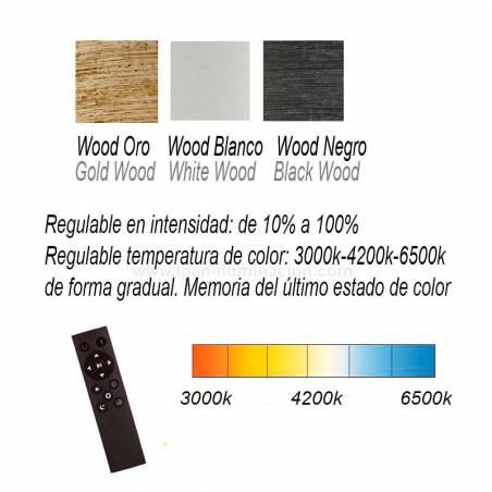 ILUSORIA Wood LED + remote control pendant lamp info