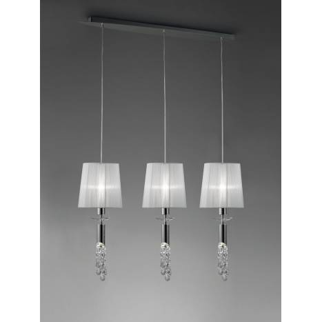 Mantra Tiffany pendant lamp 3L chrome