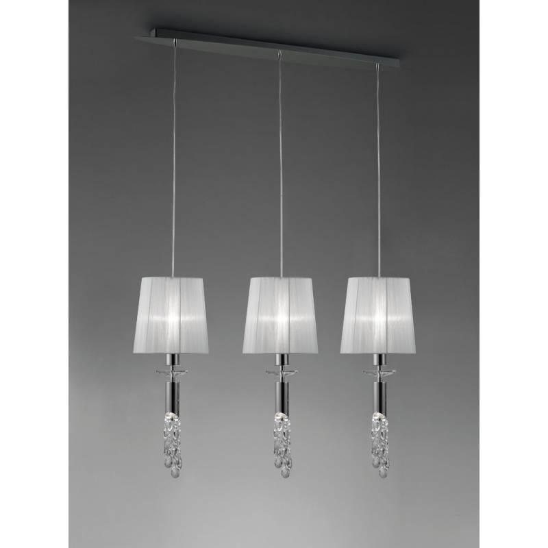 Mantra Tiffany pendant lamp 3L chrome