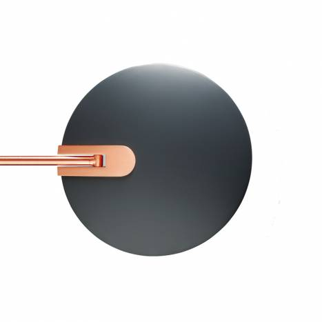 MDC Sione LED 7w dimmable copper anthracite reading lamp detail