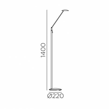 MDC Sione LED 7w dimmable reading lamp detail dimensions