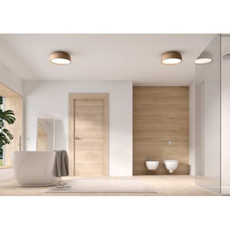 MDC Tokio 3L E27 IP44 wood oak ceiling lamp ambient