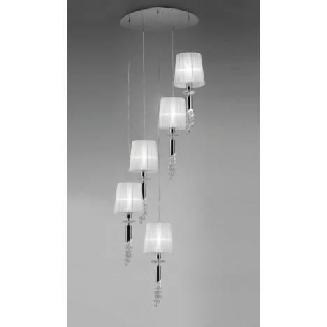 Mantra Tiffany pendant lamp 5L chrome