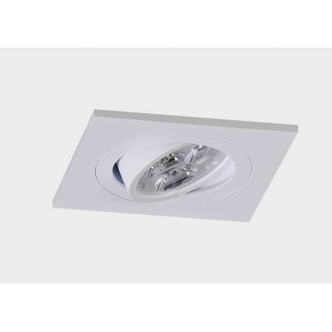 Square recessed light LED 8w white aluminium